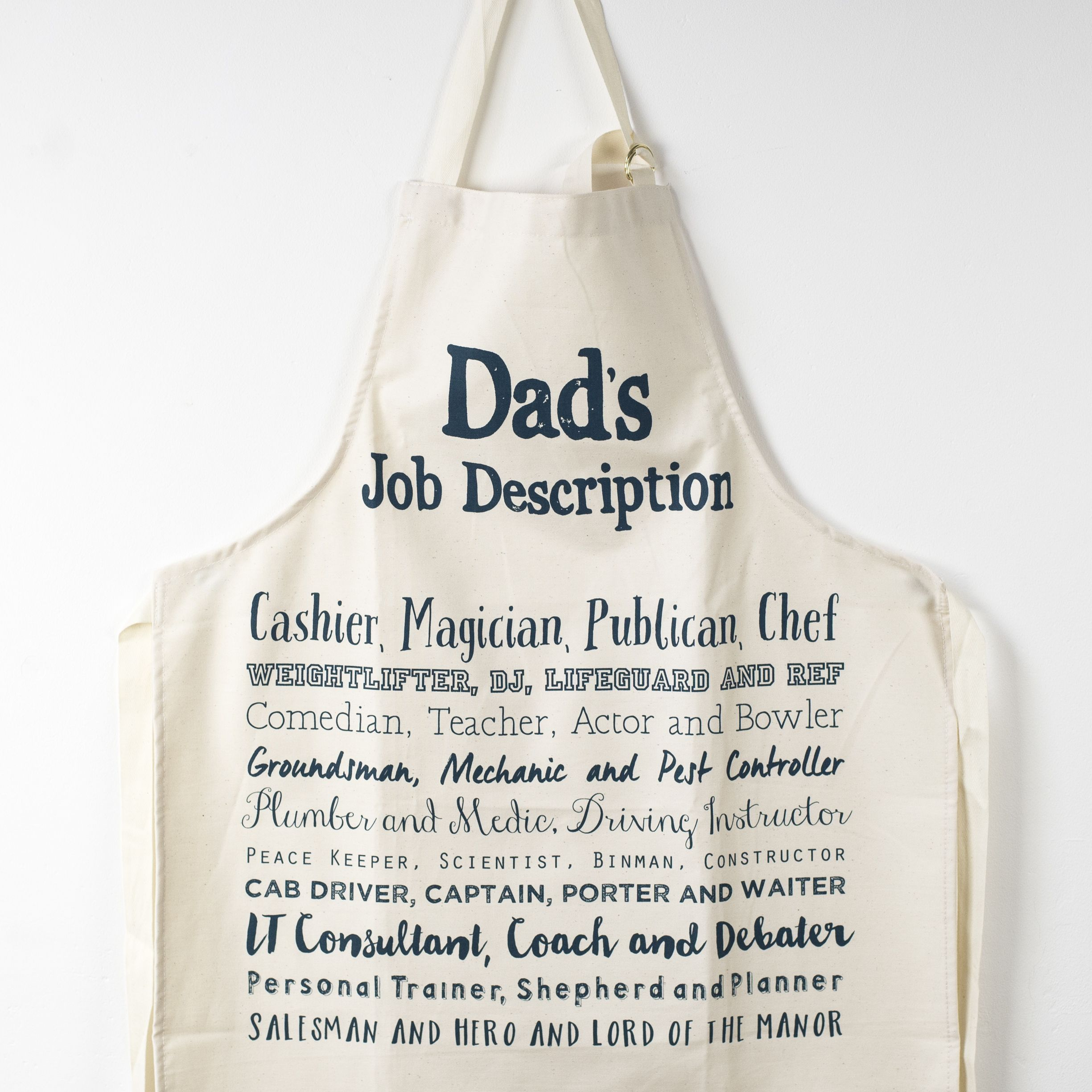 DadS Job Description Apron  Bespoke Verse  Homewares