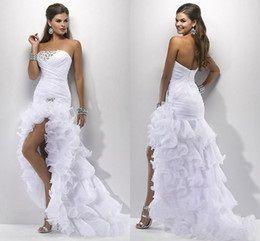 Rövid esküvői ruha egy vonat - merész választás a menyasszony (esküvői ruha  rövid vonat nem fehér) 142063dd85