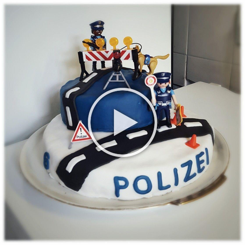 Polizei Geburtstag Kindergeburtstag Polizei Geburtstagstorte