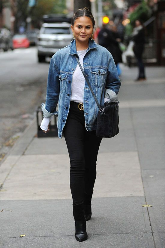 образы с короткой джинсовой курткой