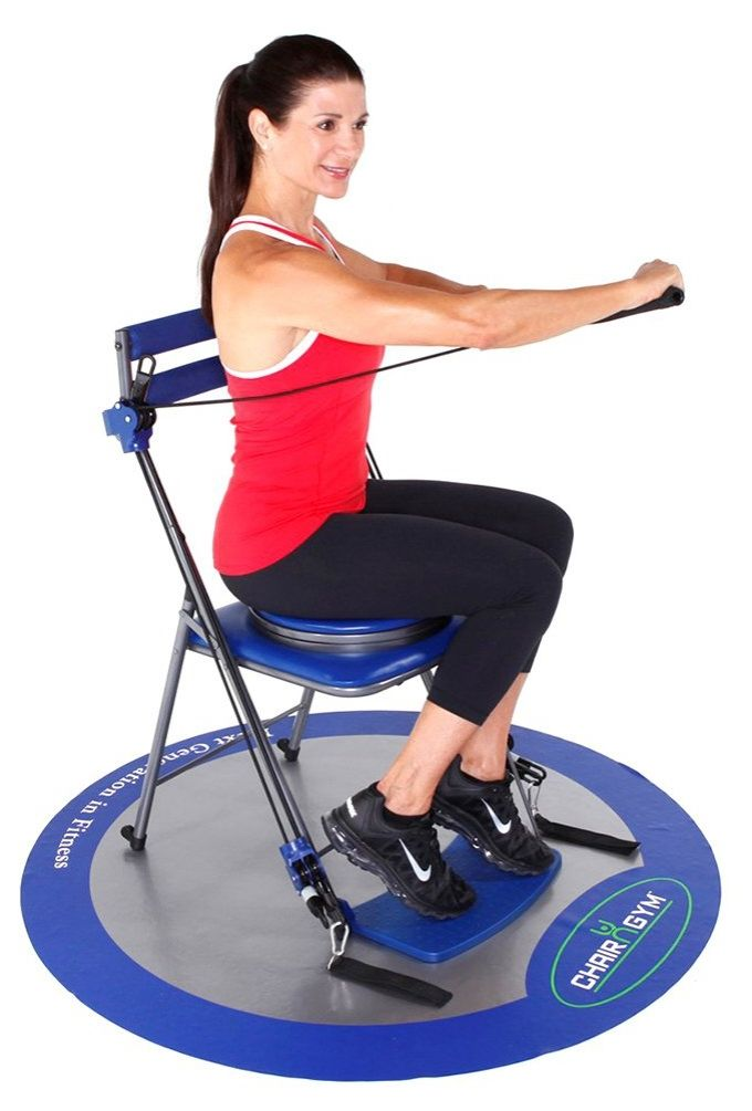 chair gym exercise system with twister seat and workout dvds
