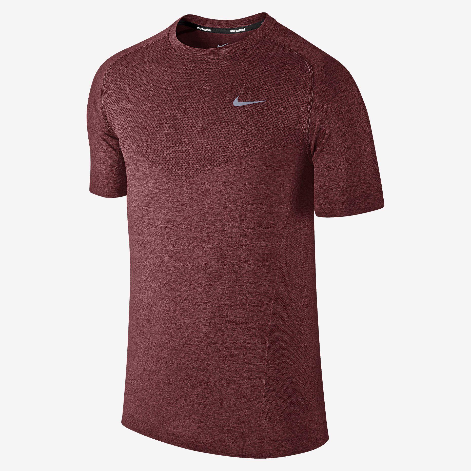 d3ee99f33 Nike Dri-FIT Knit Short-Sleeve Men's Running Shirt. Nike Store UK ...