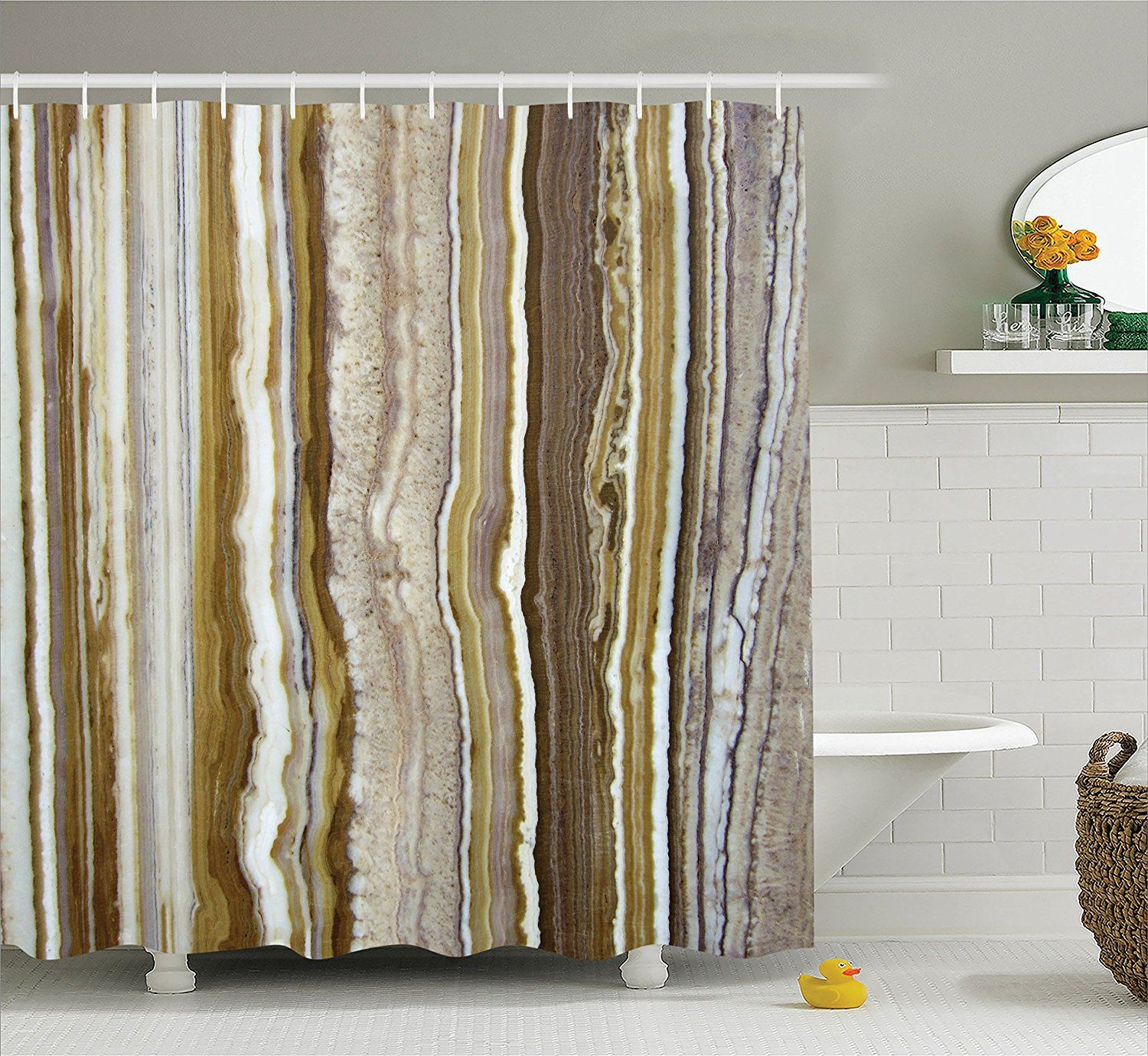 Window treatment ideas for apartment  apartment decor shower curtain by ambesonne onyx marble rock themed