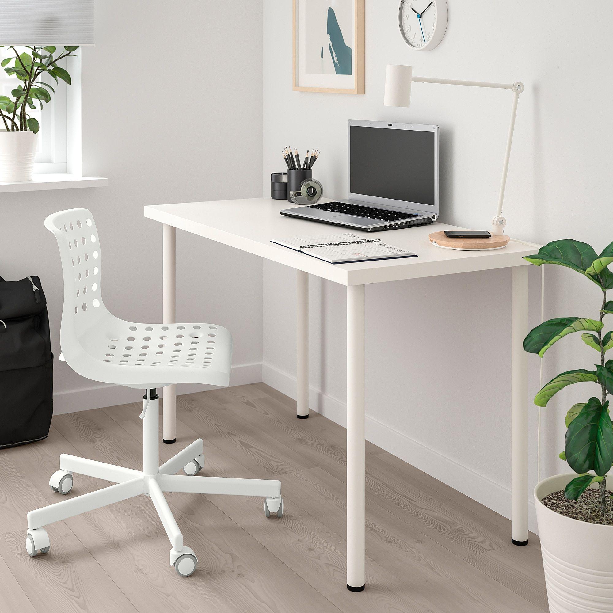 SKÅLBERG / SPORREN Swivel chair white Swivel chair