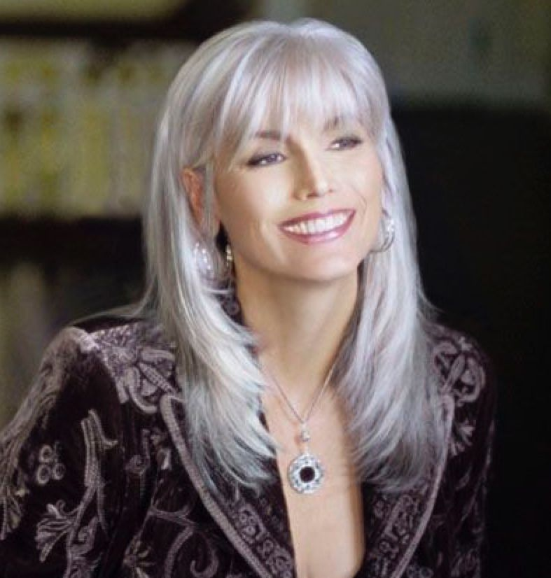 Pin By Whimsical Decor On Spa Days Beauty Grey Hair Looks Hair Styles Long Hair Styles