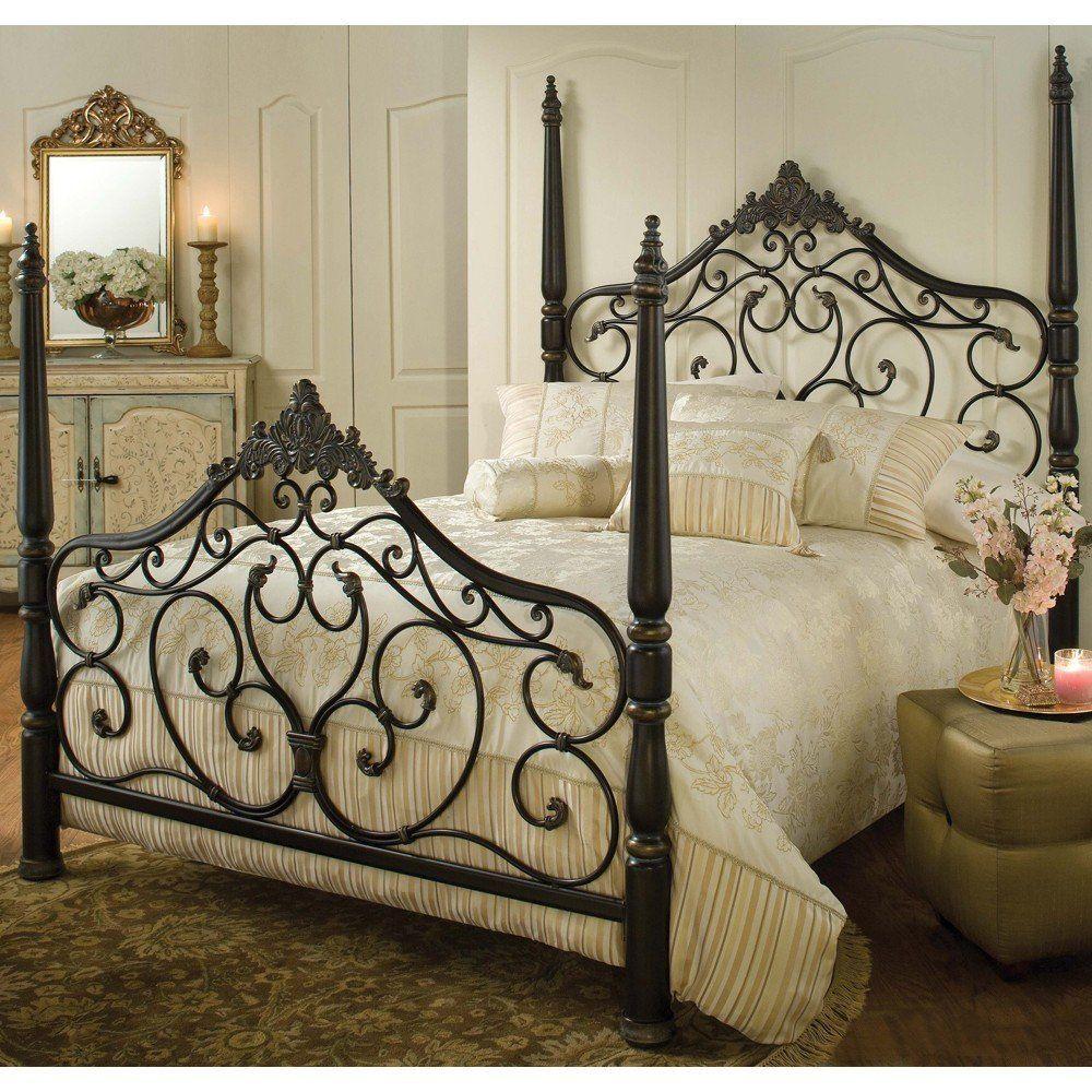 Wrought Iron Bedroom Set Bedroom White Rod Iron Bed In 2020 Poster Bed Iron Bed Wrought Iron Beds