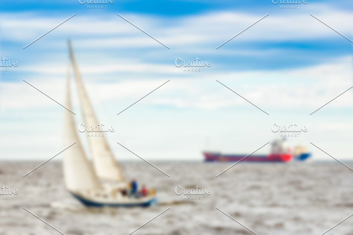 Photo of Blue sailboat – blurred image #Sponsored , #Sponsored, #soft#lens#Blue#sailboat