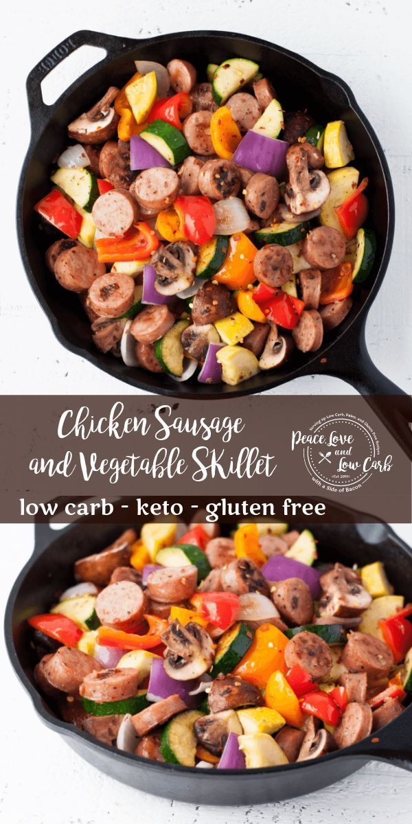 Photo of Paleo Chicken Sausage and Vegetable Skillet | Peace Love and Low Carb