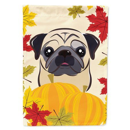 Fawn Pug Thanksgiving Flag Canvas House Size Black Pug Puppies