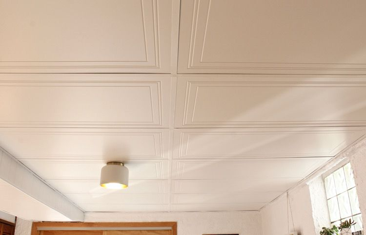 Diy Drop Ceiling Replacement The Home Depot Blog Dropped