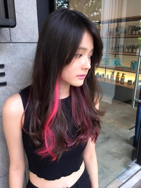 Best 25 Pink And Black Hair Ideas On Pinterest Ombre Hair Color With Regard To Dark Brown Hair With Pink Highlights Hair Styles Neon Hair Long Hair Styles
