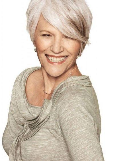 Fryzury Dla Starszych Pań Włosy Krótkie Fryzury Dla Siwych