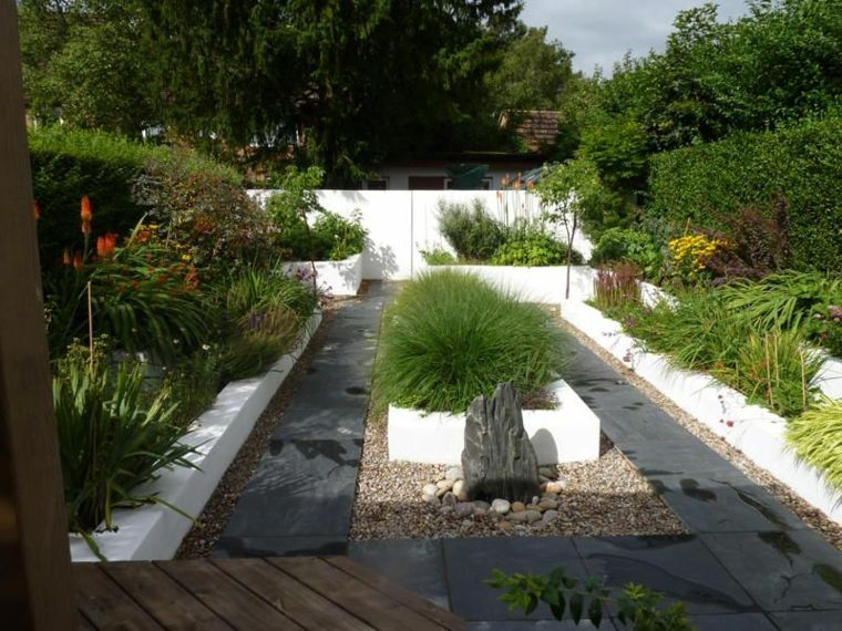 diseo de jardines zen modernos