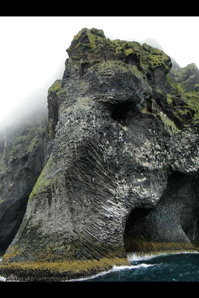 Nature creates art as well. Elephant Rock, Heimaey-Iceland.