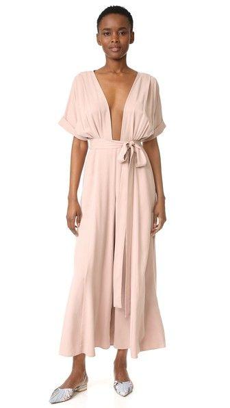 d901216603a MARA HOFFMAN Brushed Modal Deep V Jumpsuit.  marahoffman  cloth  dress  top   shirt  sweater  skirt  beachwear  activewear