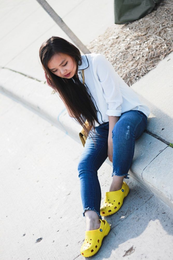 Styling Yellow Crocs Personal Outfit Ideas Crocs