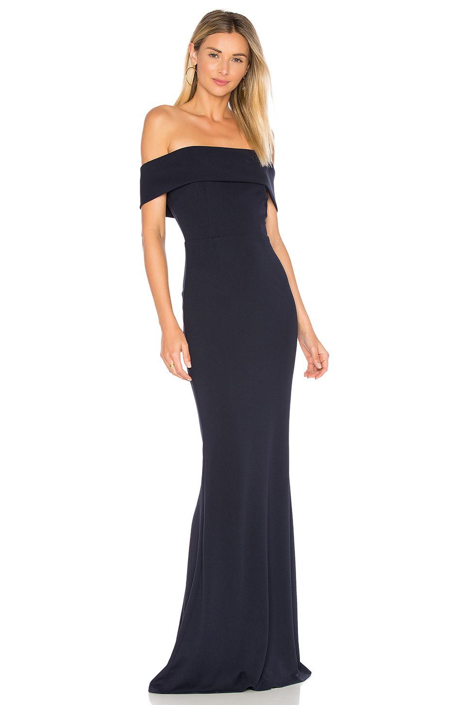 be527ed5821 Katie May Legacy Gown in Navy - - Shop this look at your local Bella  Bridesmaids