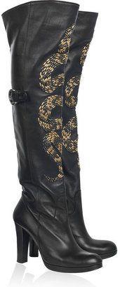 7e2efb76136b ShopStyle: Thomas Wylde Snake-embellished leather boots | JIMI ...