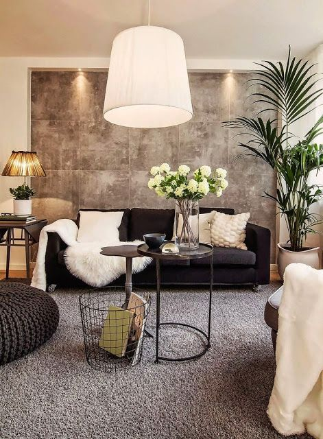 Black Sofa Anyone Yes Please Black And White Living Room