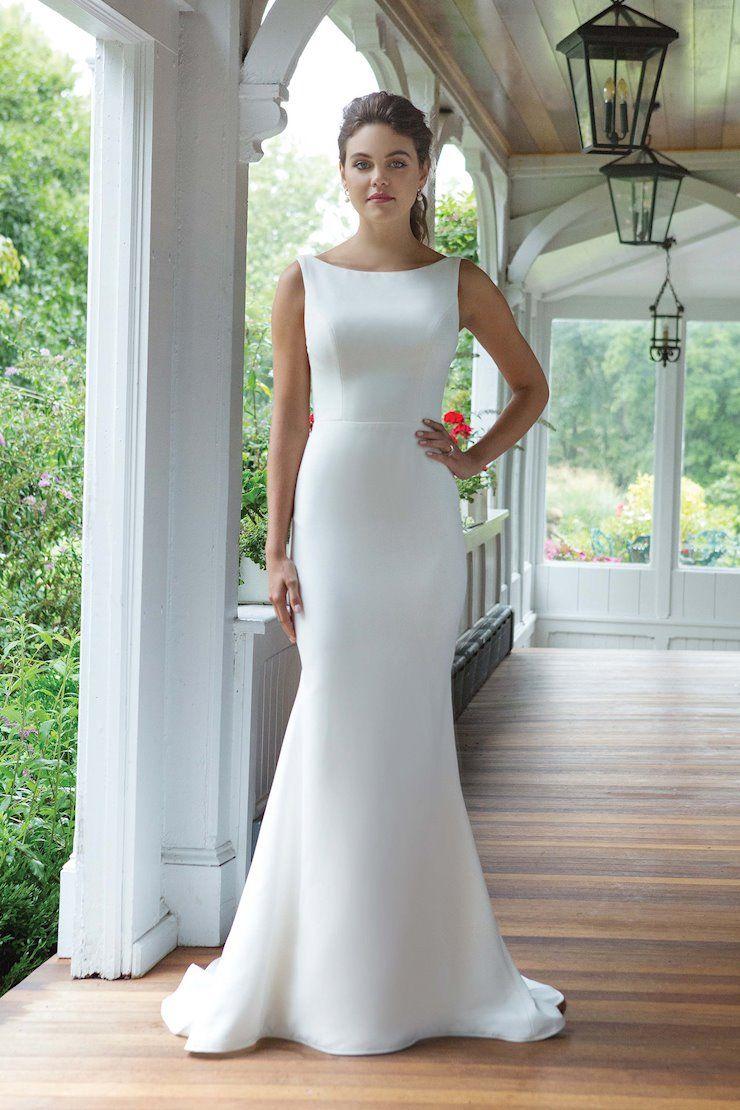 Sweetheart 11054 Modest Bridal Gowns Plain Wedding Dress Fitted Wedding Dress [ 1110 x 740 Pixel ]