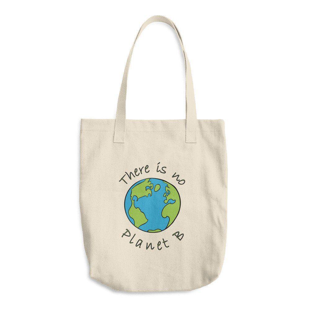 No Planet B Environmental Awareness Reusable Shopping Tote Bag ...