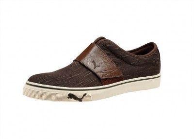 dce377c01c103 Tênis Puma Men s El Rey Leather Drill Slip-On Shoes Black Coffee-Chestnut   Tênis  Puma