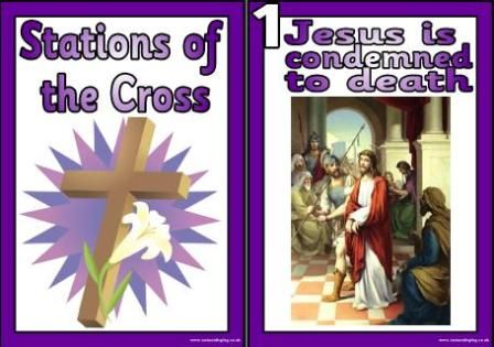 Free Printable worksheets, Stations of the Cross printable posters ...