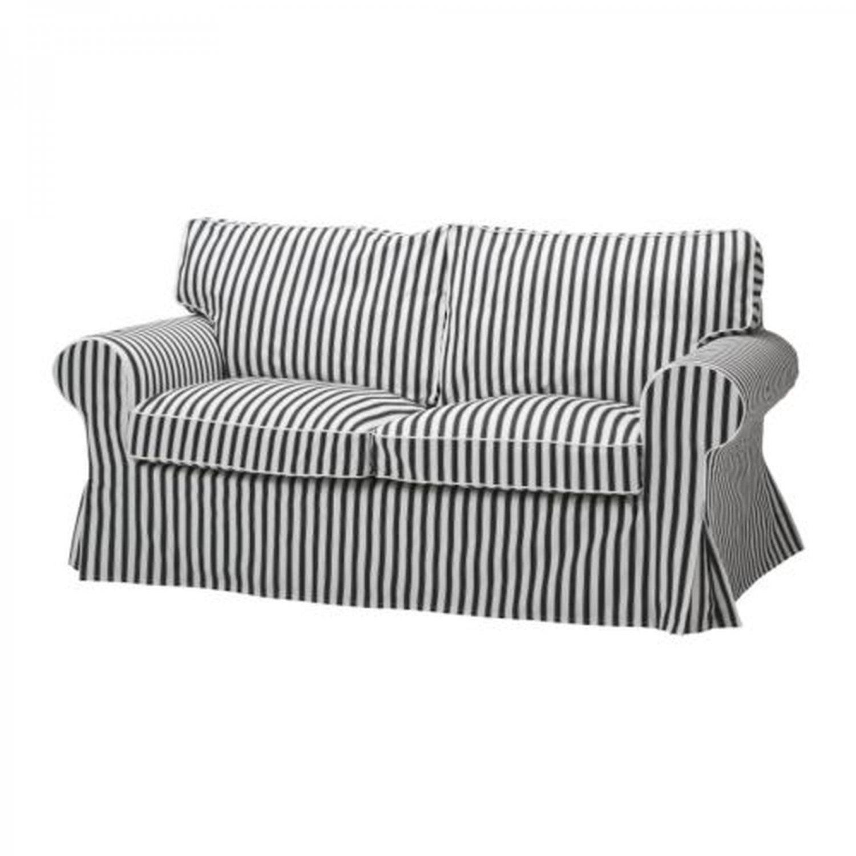 Ikea Ektorp Sofa Bed Slipcover Cover Vallsta Black White Stripes White Couch Cover Ektorp Sofa Bed Ikea Ektorp Sofa