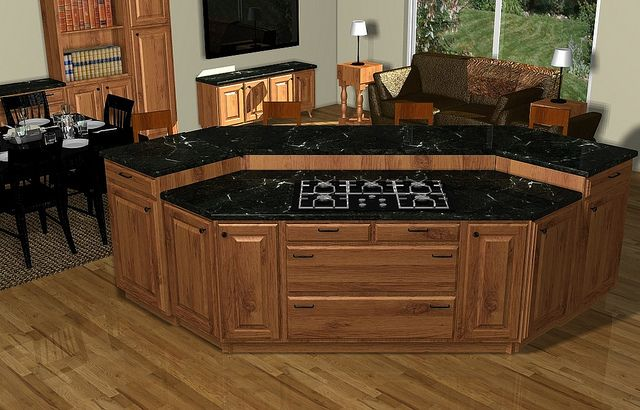 Diy Kitchen Island With Stove island cooktop | kitchen living rooms, living rooms and kitchens