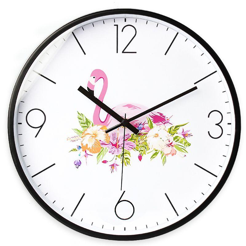 Amazing [USD 45.20] Flamingo Clock Nordic Wind Living Room Clock Modern Minimalist  Zhongbizhong Silent Clock