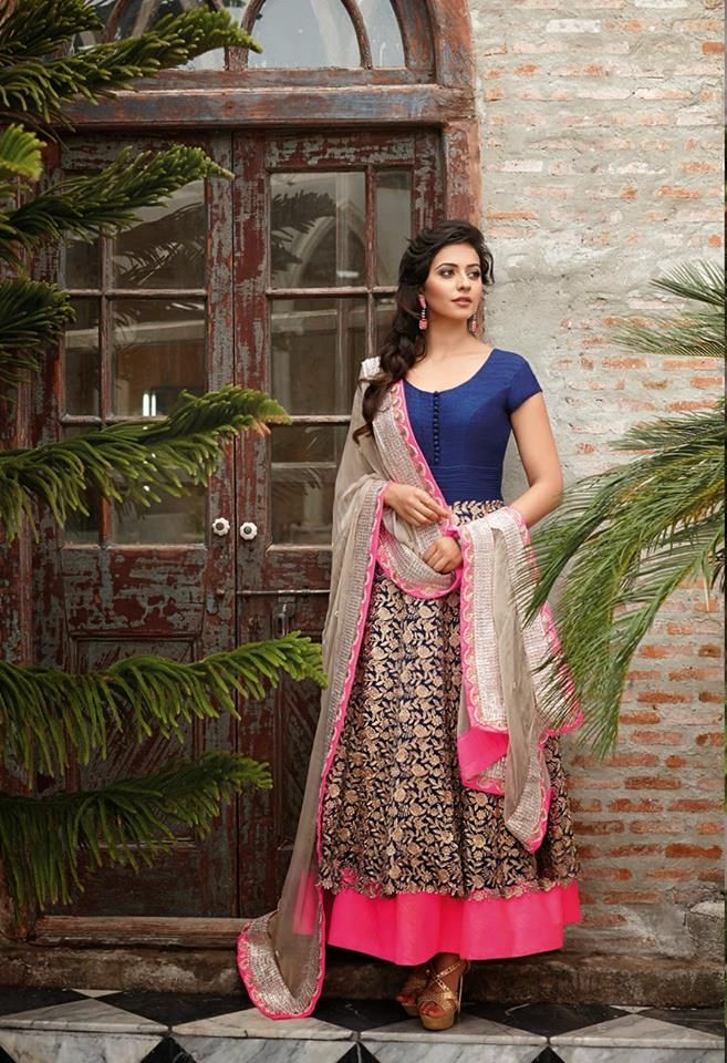 blue and pink such a lovely combination! #saheli couture