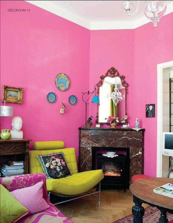 pink living room interior pink is for grownups too pinterest rh pinterest com