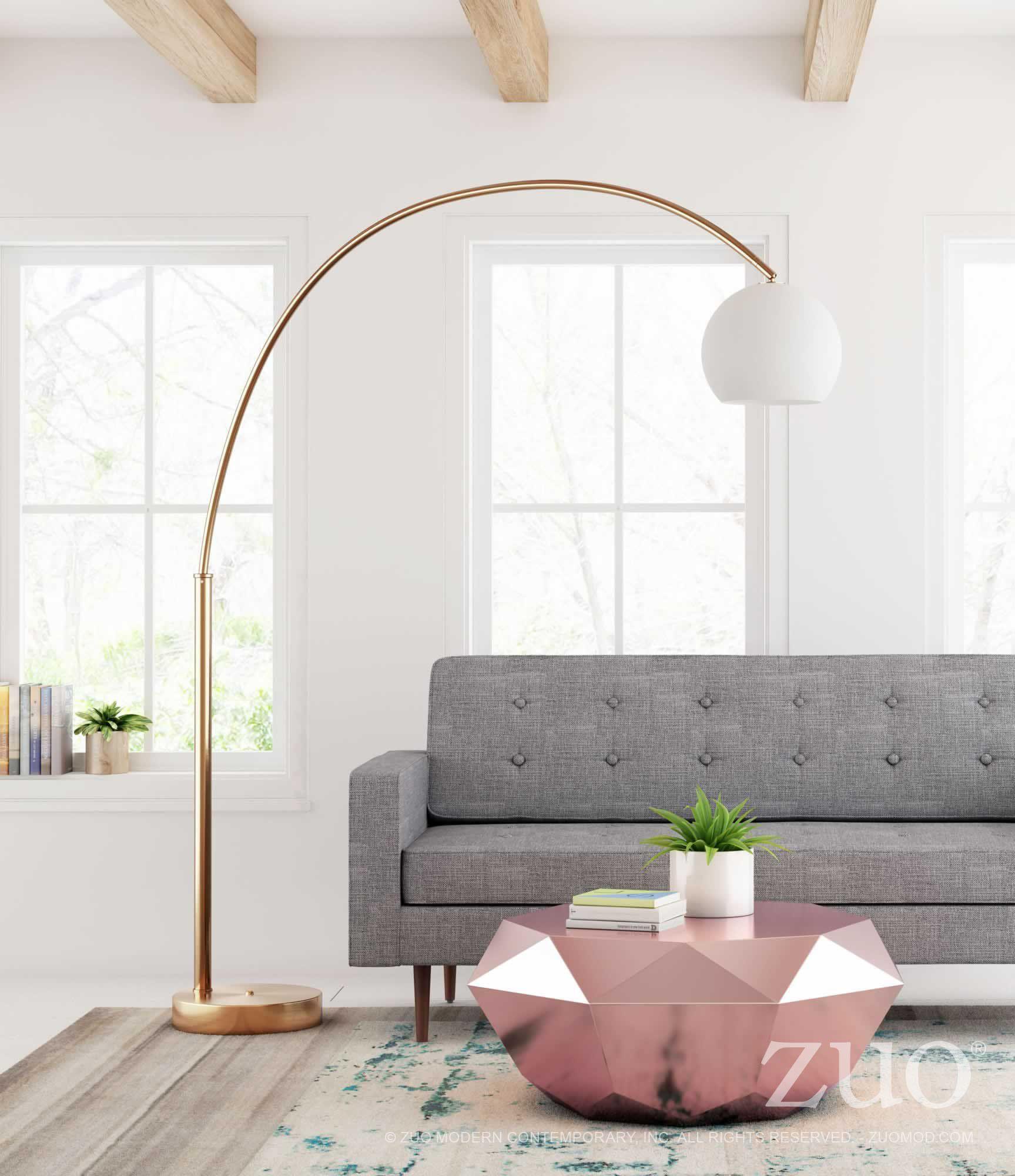 achieve your overarching lighting needs this modern arc floor lamp rh pinterest com