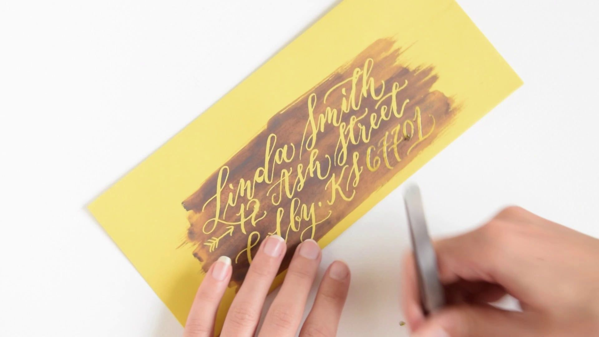 How to create calligraphy using art masking fluid