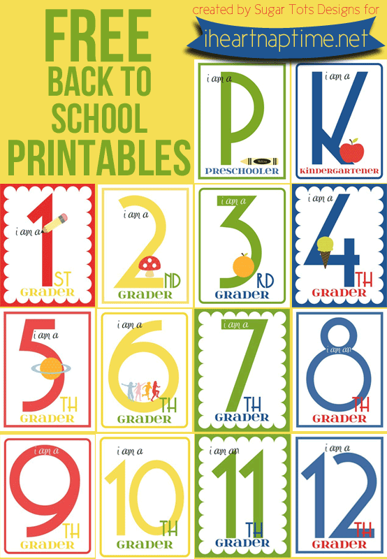 FREE Back to School Printables (K-12 | School & Childhood ...