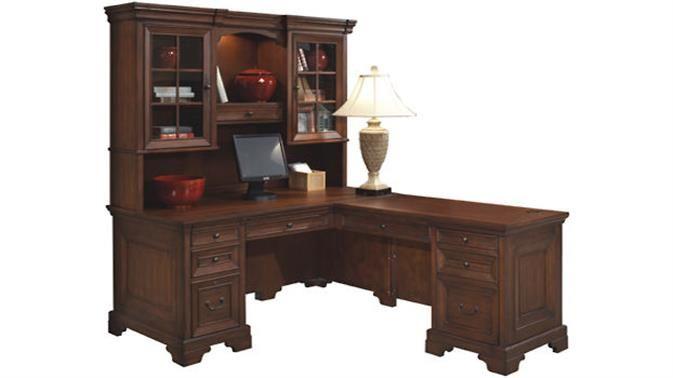 l shaped desk with hutch by aspen home madison desk home office rh pinterest com
