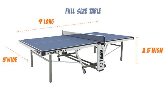 tiger ping pong cornilleau room size chart article explains the rh pinterest com