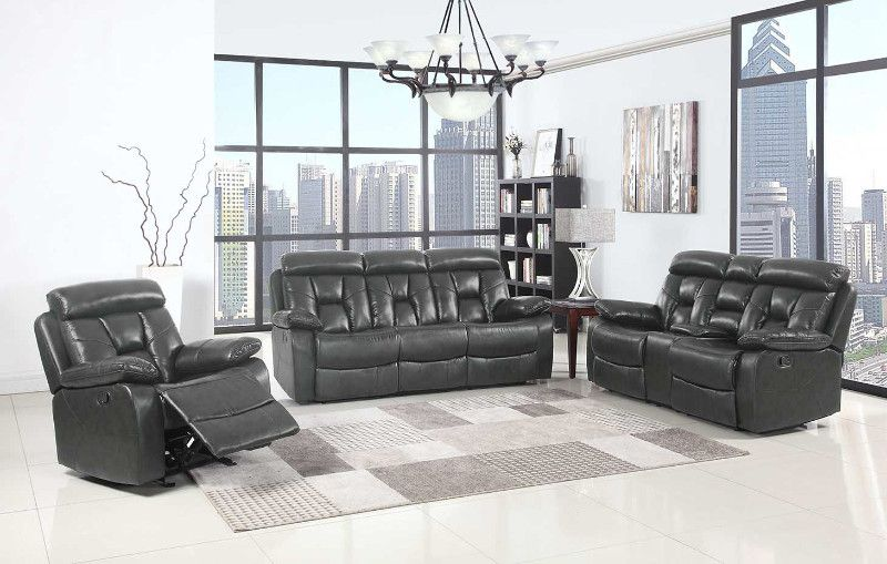 2 pc parsons collection dark grey leather aire upholstered sofa and rh pinterest com