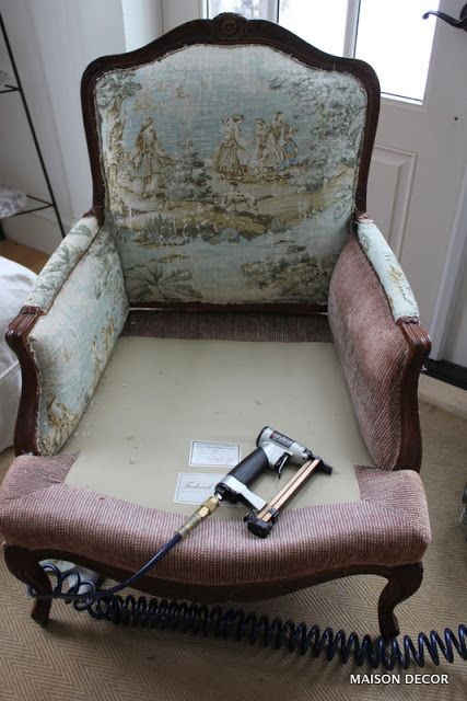 How To Reupholster The Easy Way My French Chair Reupholster Furniture French Chairs Upholstery