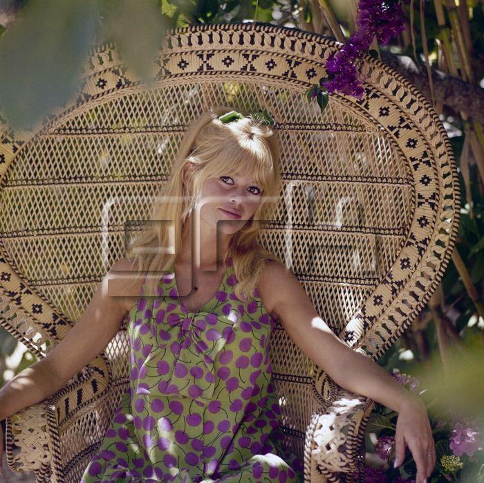 Brigitte Bardot posant dans le jardin de la Madrague