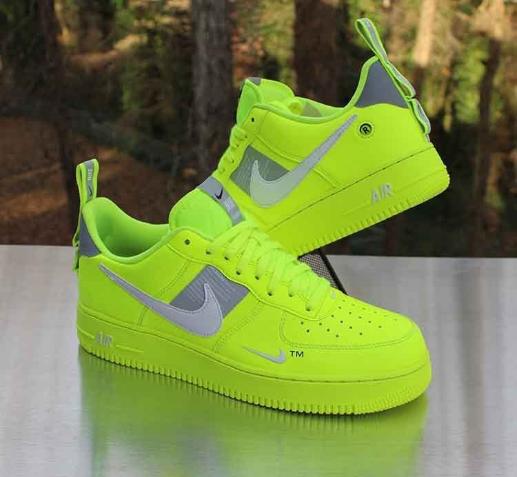 Nike Air Force 1 07 Lv8 Utility Volt Aj7747 700 Men S Size 10