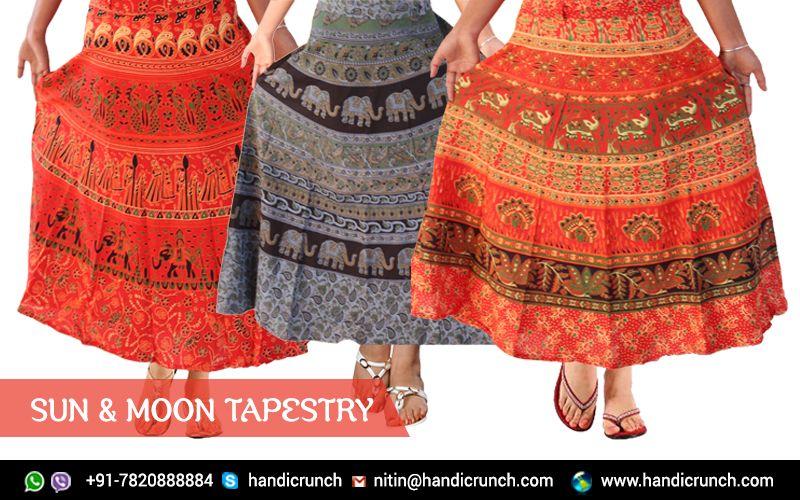fe0135defd online Indian Printed rajasthani Skirts on @Handicrunch | Indian ...