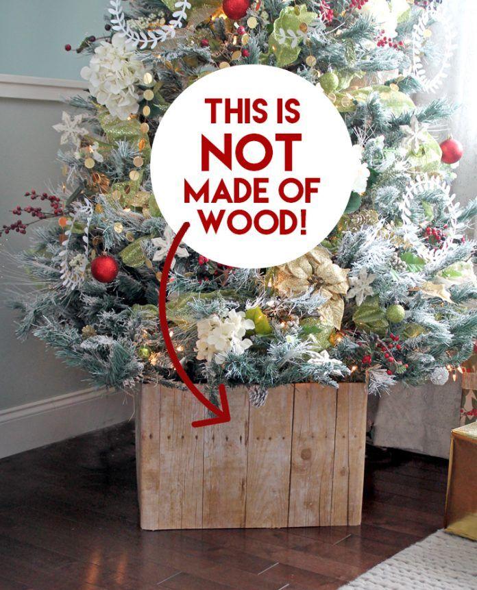 diy faux barn wood christmas tree stand decorating the christmas rh pinterest com