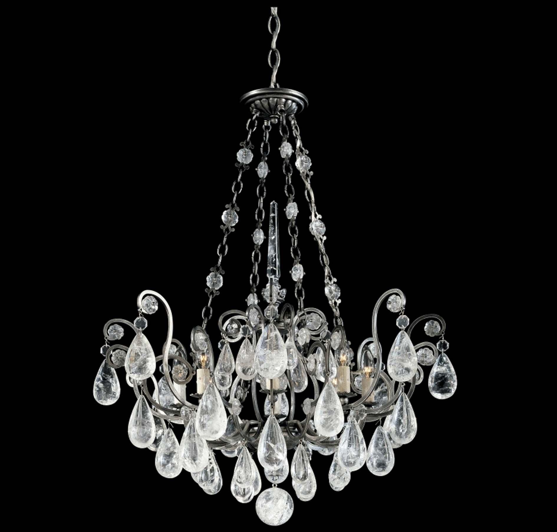 Schonbek Versailles 8-Light Antique Pewter Chandelier | Antique ...