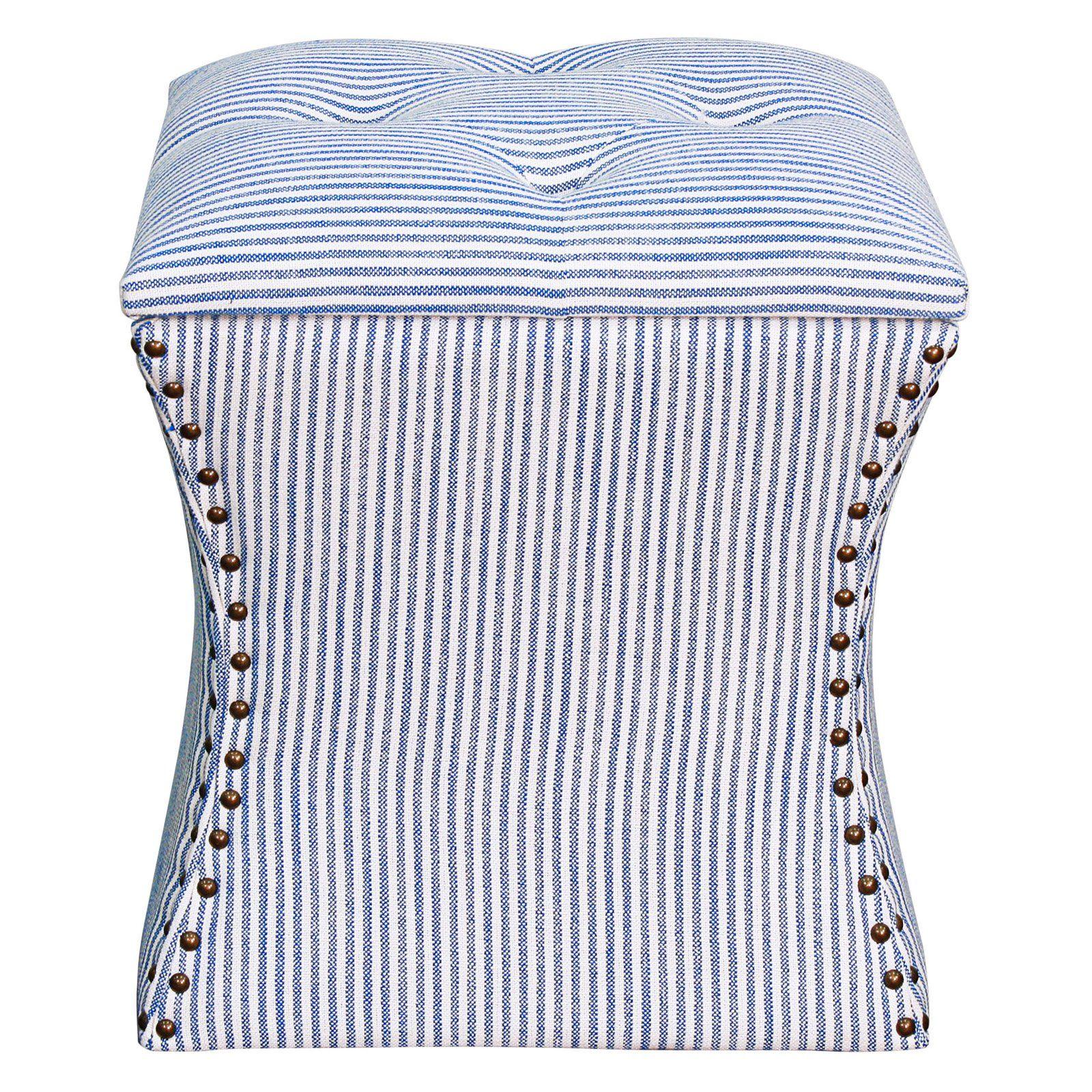 Strange New Pacific Direct Inc Amelia Nailhead Storage Ottoman Blue Camellatalisay Diy Chair Ideas Camellatalisaycom