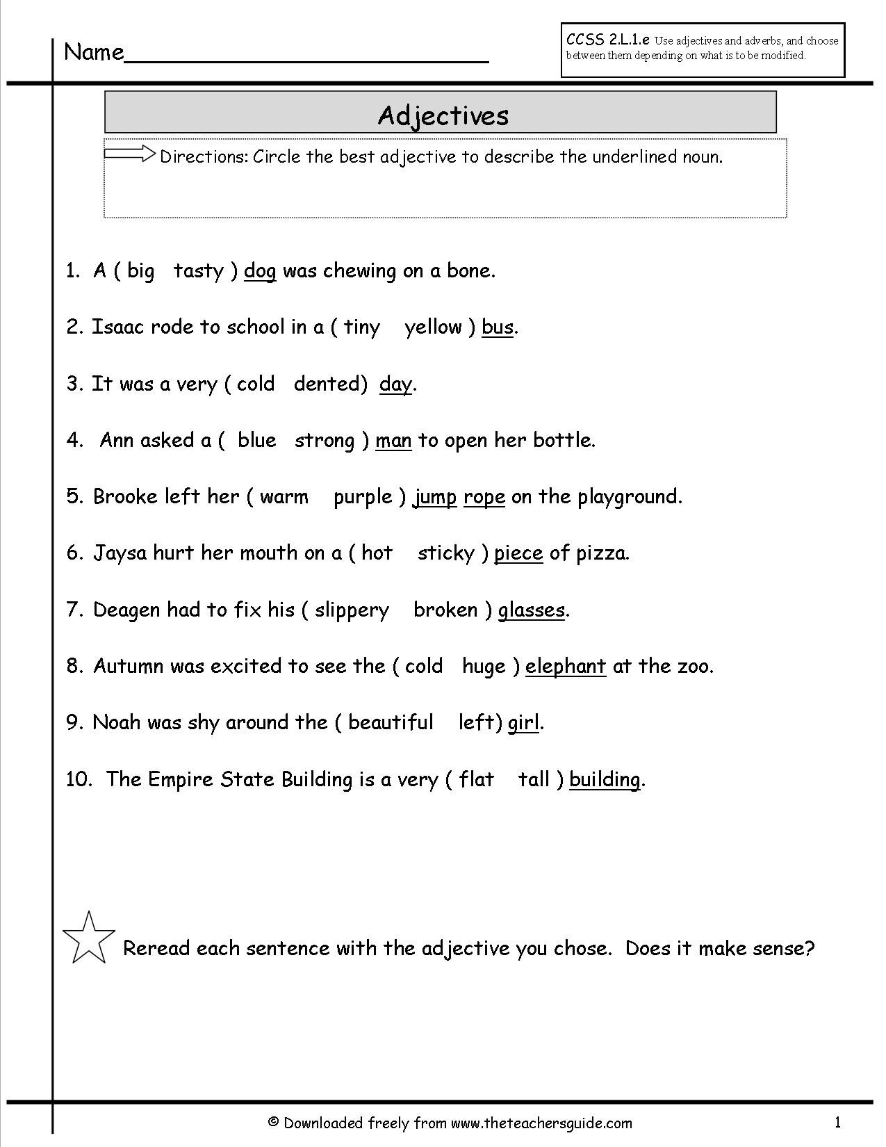 Printables 1st Grade Grammar Worksheets printables 1st grade grammar worksheets safarmediapps 1000 images about education on pinterest english subject and predicate student