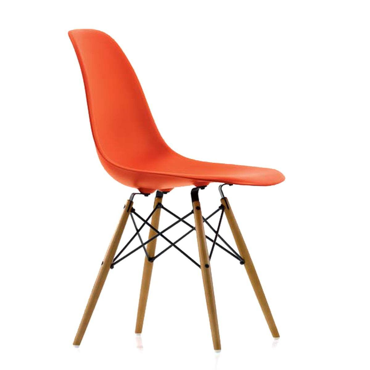 Vitra Eames Plastic Side Chair DSW (H 43 cm), Ahorn