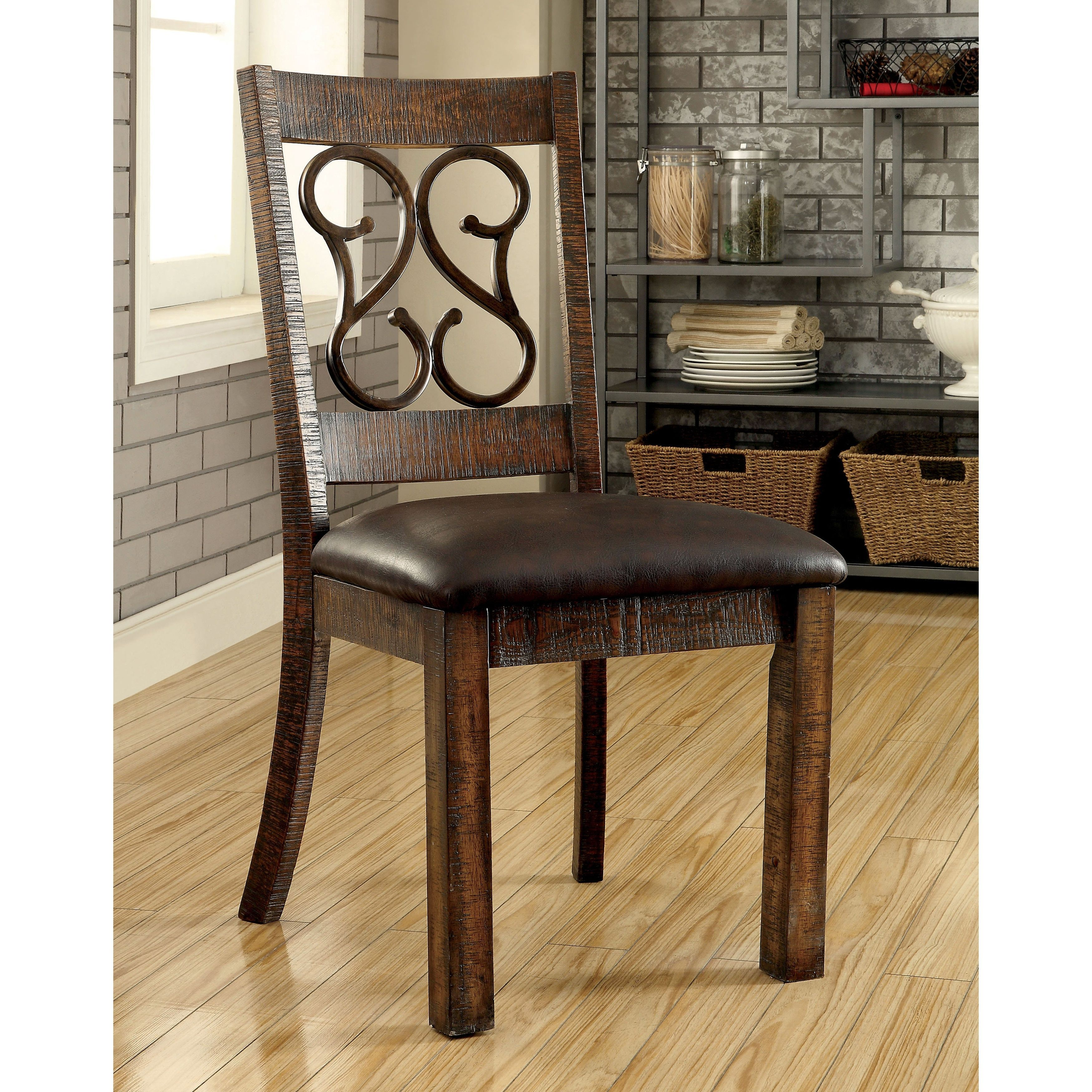 furniture of america chester traditional scrolled metal leatherette rh pinterest com