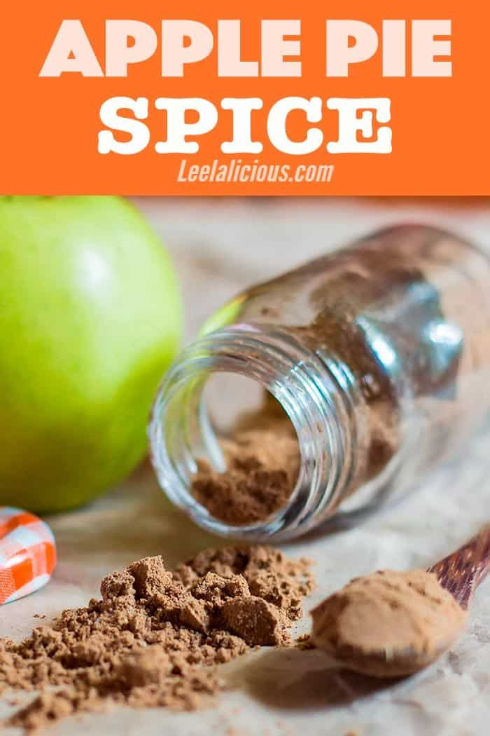 This delicious and aromatic homemade apple pie spice mix is perfect to complement apple pies and any other apple dessert recipe. It's also a wonderful homemade gift idea. #apples #applespice #fall #homemade #seasoning #spices #recipe #DIY #holidays #Thanksgiving #sweets