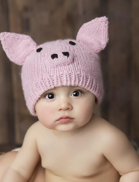 438a866f0fa Sammie Pig Knit Hat